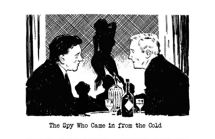 """""""The Spy Who Came in from the Cold"""" (2012) by Greg Smallwood."""