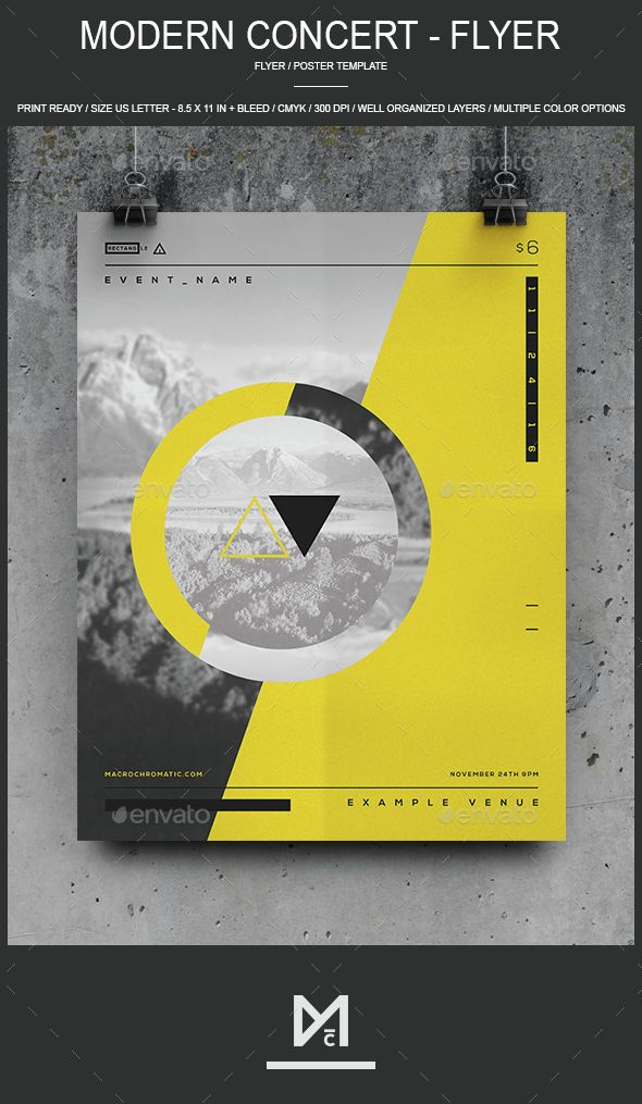 The 25+ best Concert flyer ideas on Pinterest Flyer printing - geometric flyer template