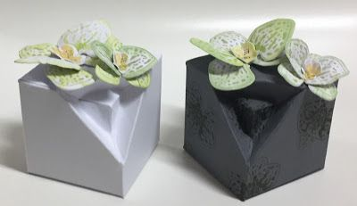 Nadjas Stempelkreationen: Tricky- Cube-Box mit Stampin´Up!- Orchideenzweig/ Climbing Orchid