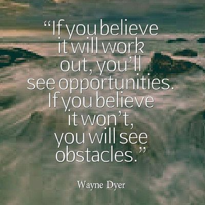 If you believe....