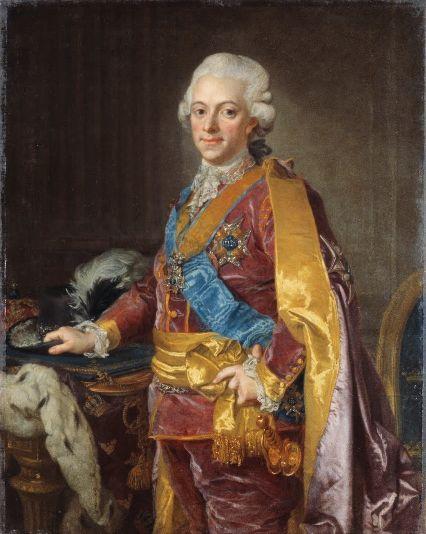 Gustav the III, the king of Sweden, ca.1780-1789
