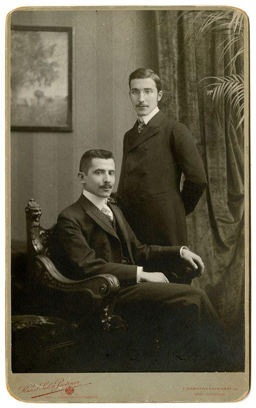 Stefan Zweig w/ brother Alfred