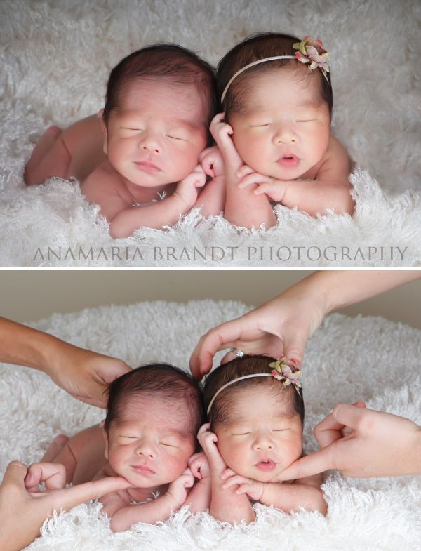 A sneak behind the scenes at a newborn twin session by ana brandt www