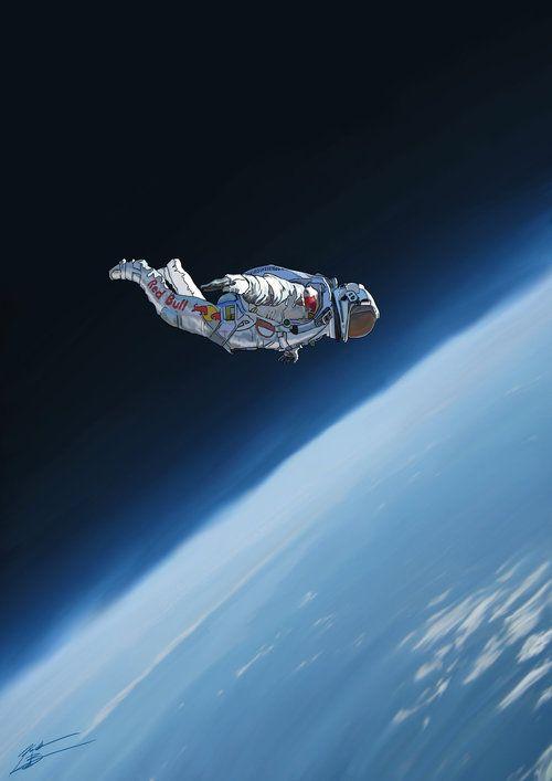 Astronaute dans le vide