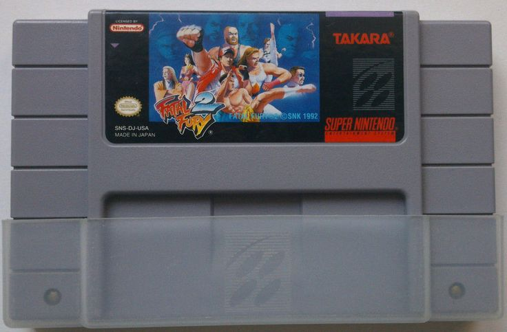 Rare Original SNES Fatal Fury 2 game (NTSC 1992)