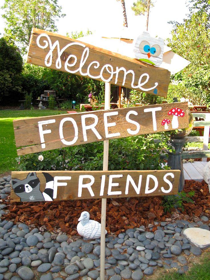 Sign I made for a Woodland Baby Shower sofiagraphicdesign.com
