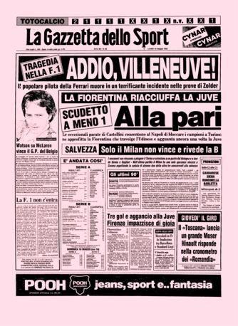 Prima pagina La Gazzetta dello Sport 10 Maggio 1982