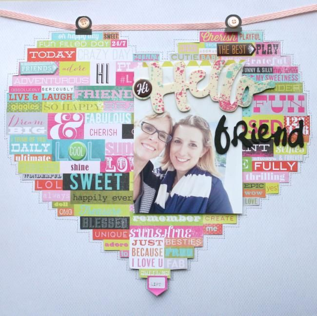 Hello Friend | Suz Mannecke Created with June 2014 Kit; Boho Garden Interactive layout (2 in 1) Another layout flips up and resides underneath.