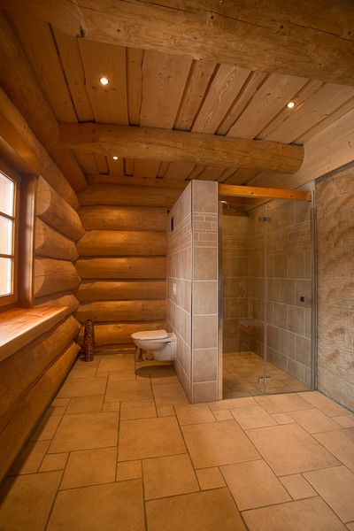 Naturstammhaus blockhaus bad badezimmer pinteres for Badezimmer design berlin