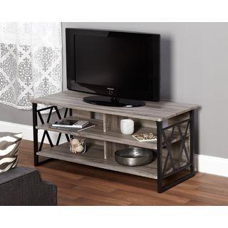 Simple Living Seneca XX 48-inch Black/ Grey TV Stand | Overstock.com Shopping - (US site)