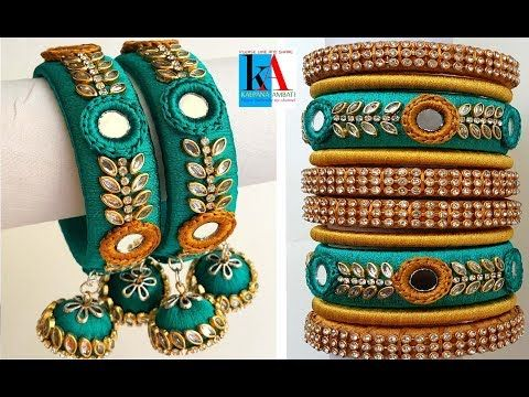 How to make Designer Bridal Bangles with #silk thread at Home | DIY - YouTube