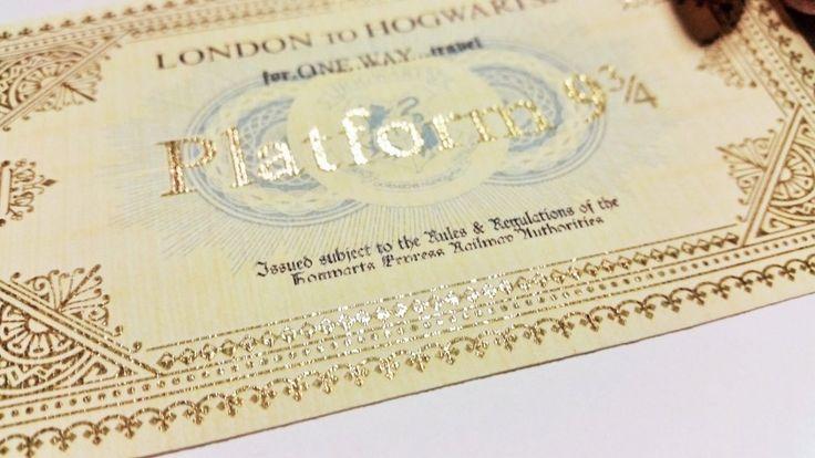 Harry Potter inspired Hogwarts Gold ticket