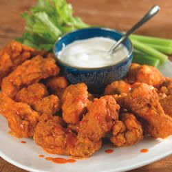 Buffalo Chicken Wings.  Tastes amazing and are just like hooters wings, but if you're lazy like me, I buy the hooters sauce in the jar and it's just as good.