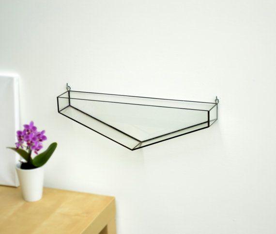 Hanging Glass Terrarium - Wall Geometric Planter - Stained Glass Terrarium