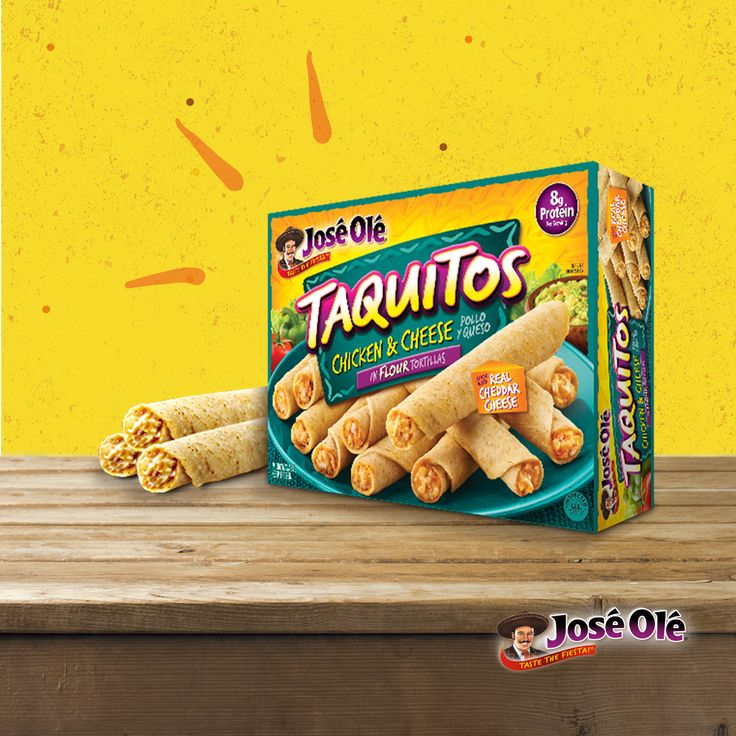 #JustSayOlé and taste the fiesta with our chicken & cheese taquitos.