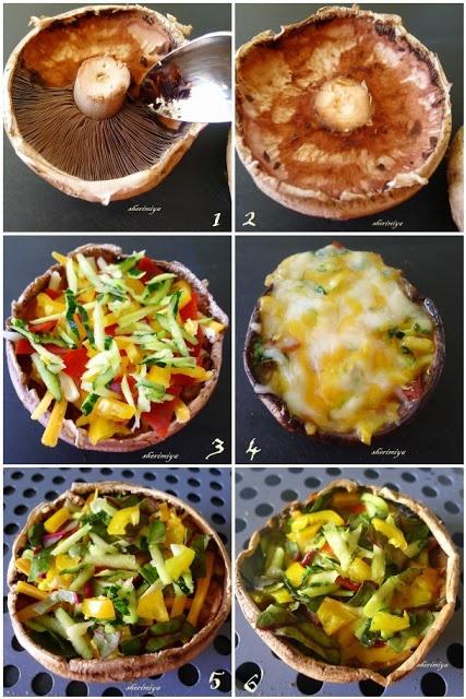 Portobello Pizza. I want sausage in this!