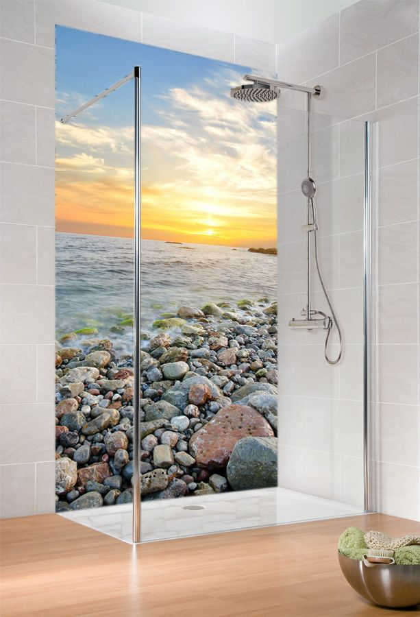 Ottofond shower screen Sani Wall Sunset 1200 x 2500 mm 990972 | Duschmeister.de