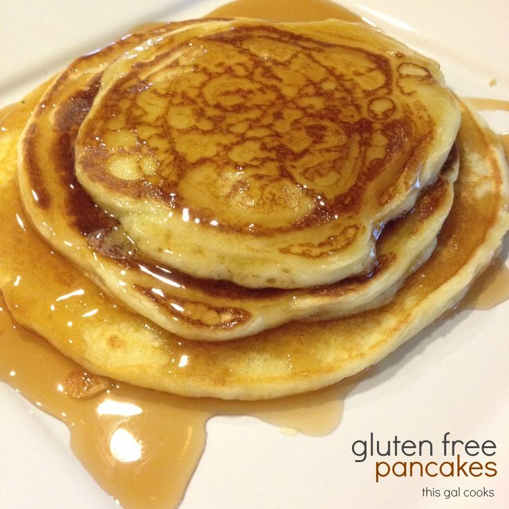 Just made these (with a few tweaks) and these are seriously the best gluten free pancakes ever!!!