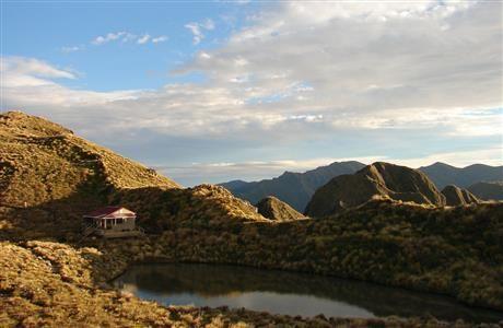 Maungahuka Hut on the main range...Tararua Forest Park