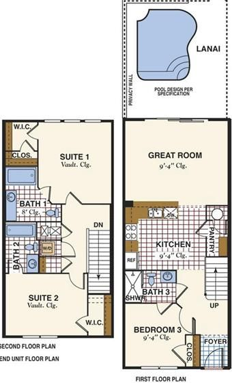 24 best images about townhome floor plans on pinterest for 4 bedroom townhouse plans
