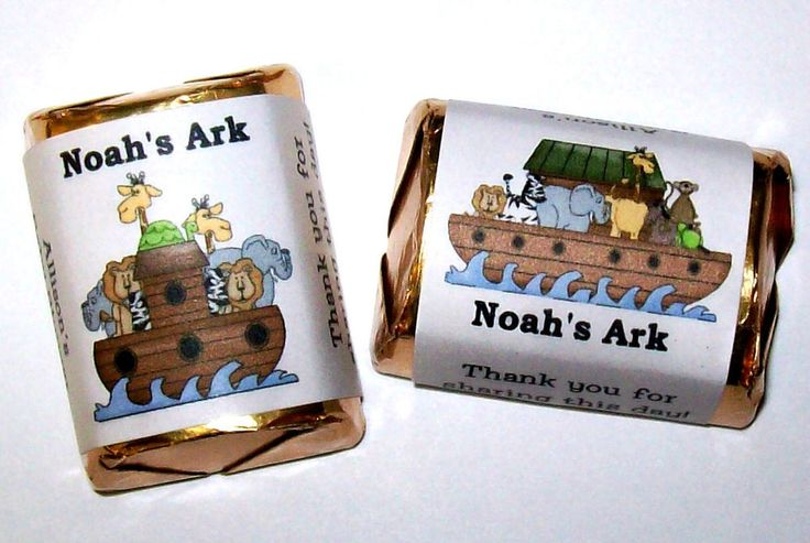 120 NOAH'S ARK BABY SHOWER PARTY FAVORS CANDY WRAPPERS