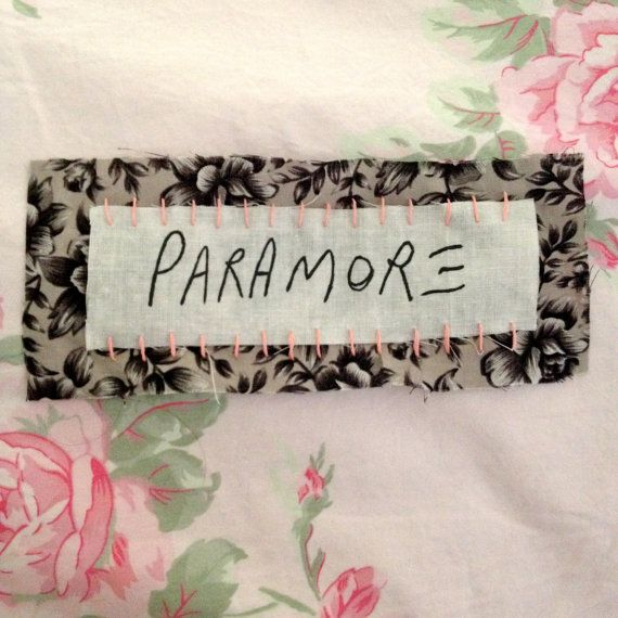 Hey, I found this really awesome Etsy listing at https://www.etsy.com/listing/179200980/paramore-floral-patch