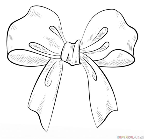 How to draw a bow | Step by step Drawing tutorials