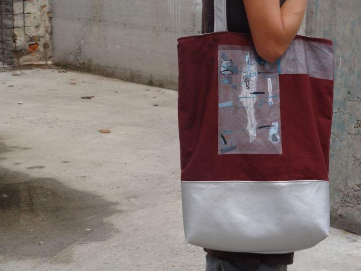 Rucksäcke & Beutel - Grosse Handtasche Städtische Glam Beige Sienna Han - ein Designerstück von koatye bei DaWanda