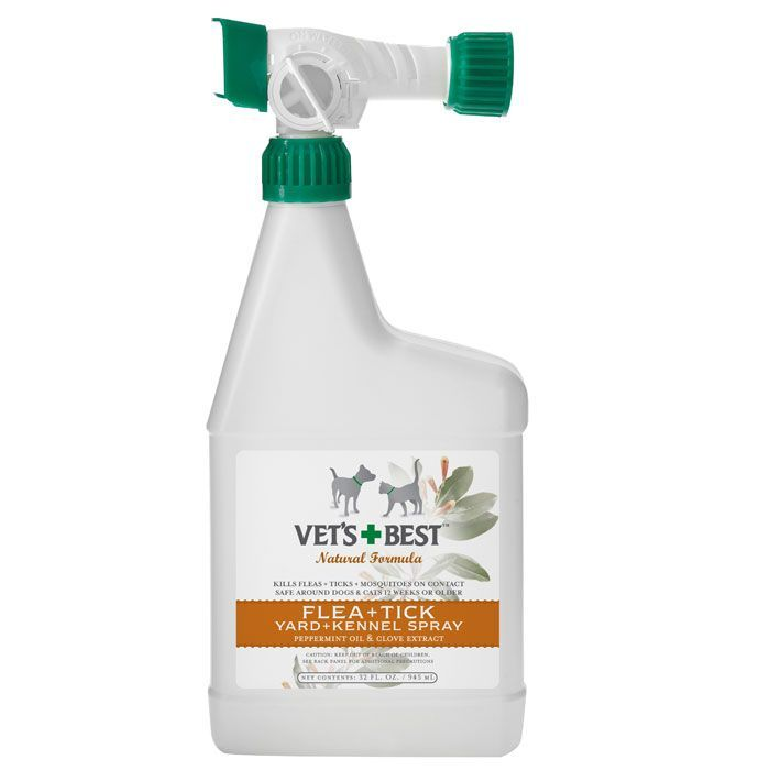 Vet S Best Natural Flea Tick Yard Kennel Spray 32 Oz