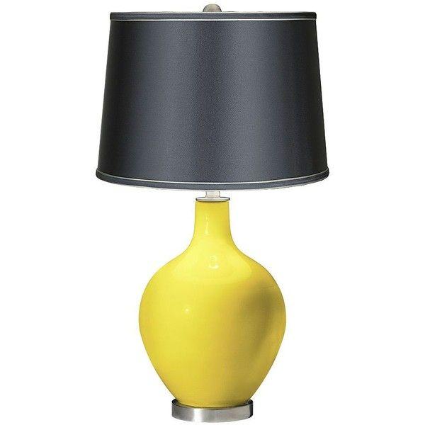 Color Plus Lemon Twist - Satin Dark Gray Shade Ovo Table Lamp ($140) ❤.  Yellow Table LampsLamp BasesLamp ... - 25+ Best Yellow Table Lamps Ideas On Pinterest Yellow Table