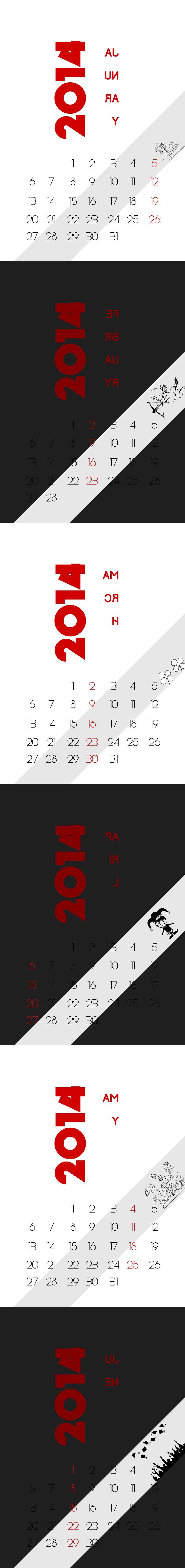 Calendar 2014 - part 1 Hope you Pint it :)
