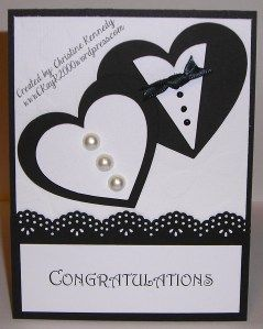 Two Hearts Wedding Congratulations Card
