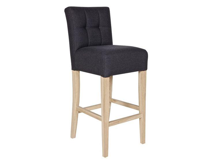 Krzesło barowe tapicerowane Tijmen