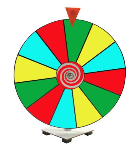 16 Prize Wheel / Dry Erase Spinning Prize Wheel / Kid by Intrigues