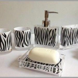 Zebra Print Bathroom Accessories Uk For Home Deco & Drinking Glass With Zebra Designs & Parfume Bottle With Zebra Motif