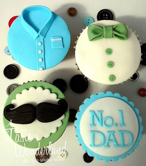Cupcake Gallery | A Taste Of Wonderland cupcakes for dad. Fathers day. Blue and Green #cupcakes # dad #father #gift