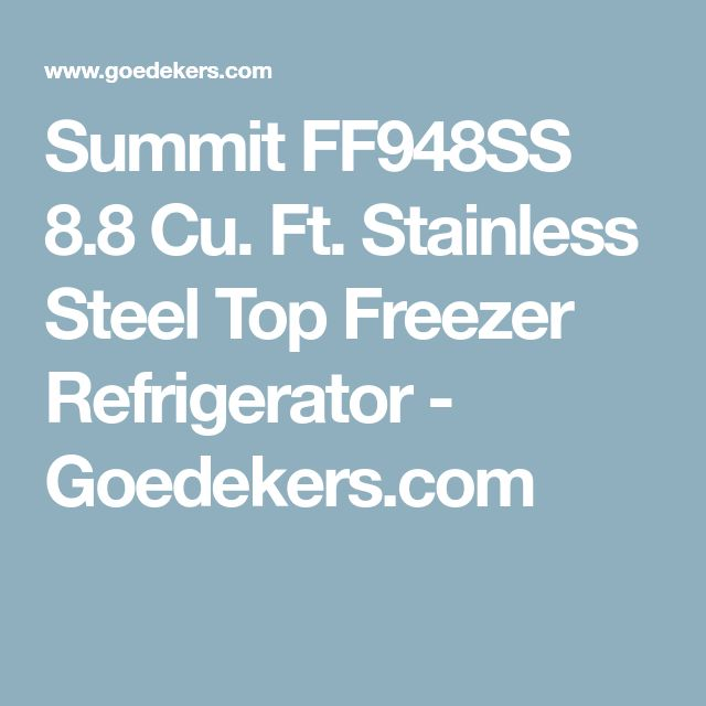 Summit FF948SS 8.8 Cu. Ft. Stainless Steel Top Freezer Refrigerator - Goedekers.com