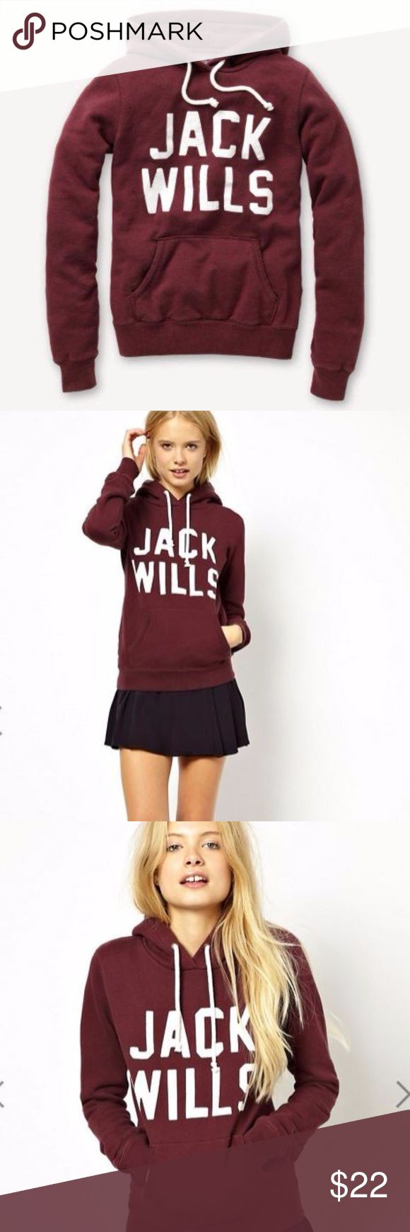 Jack Wills Hoodie Has signs of wear (natural fading from washing) but still has tons of life in it. Navy. Fleece inside. It's thick. Size 4US. Price as listed 🎈 It will keep you warm. Purchased in ASOS Jack Wills Tops Sweatshirts & Hoodies