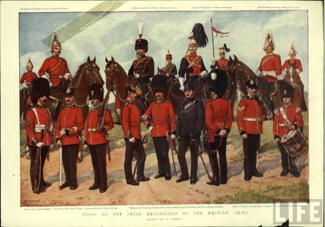 Regimientos Irlandeses del Ejército británico. Más en www.elgrancapitan.org/foro