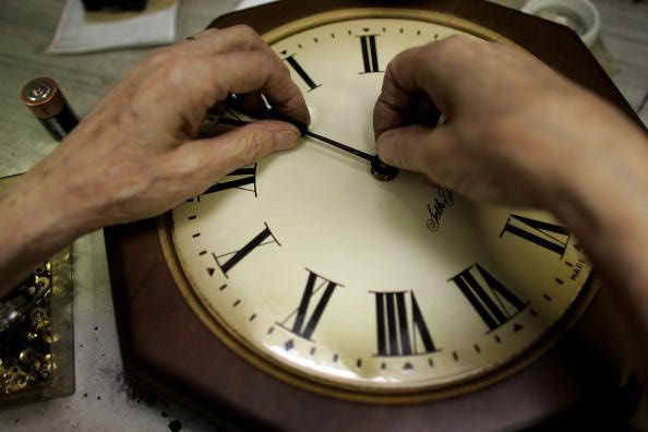 "At 2 a.m. on the second Sunday in March, we set our clocks forward one hour ahead of Standard Time (""Spring forward"")..."