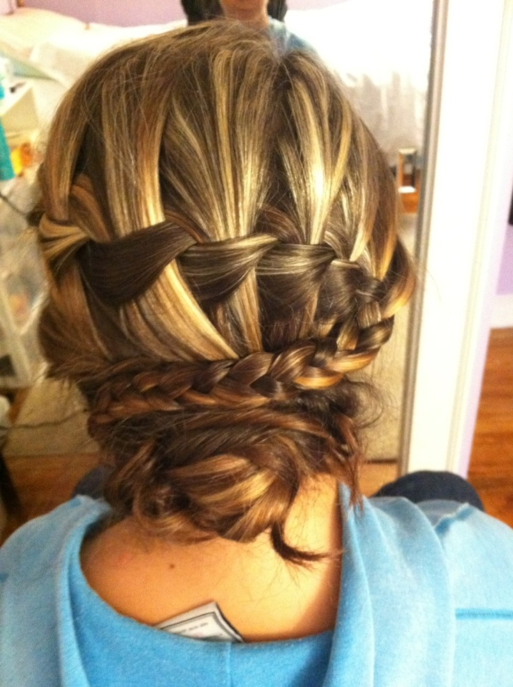 waterfall braid updo | Hair | Pinterest | Updo, Waterfalls ...
