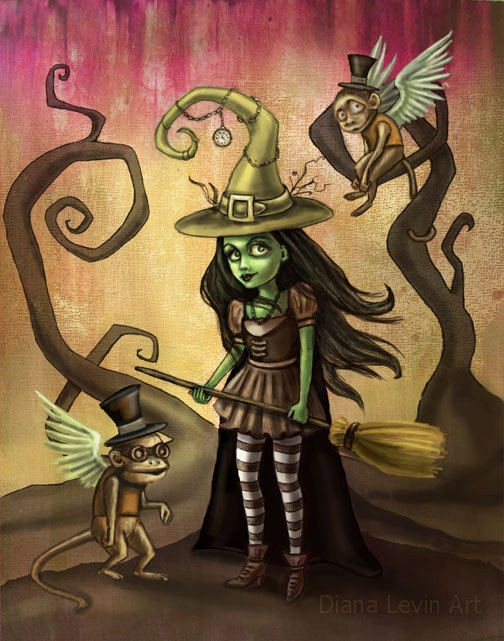 Wizard Of Oz Art - Wicked Witch Of The West - Gothic -5105