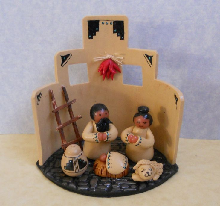 Southwest Nativity Set Creche One Piece by hookedonclay on Etsy