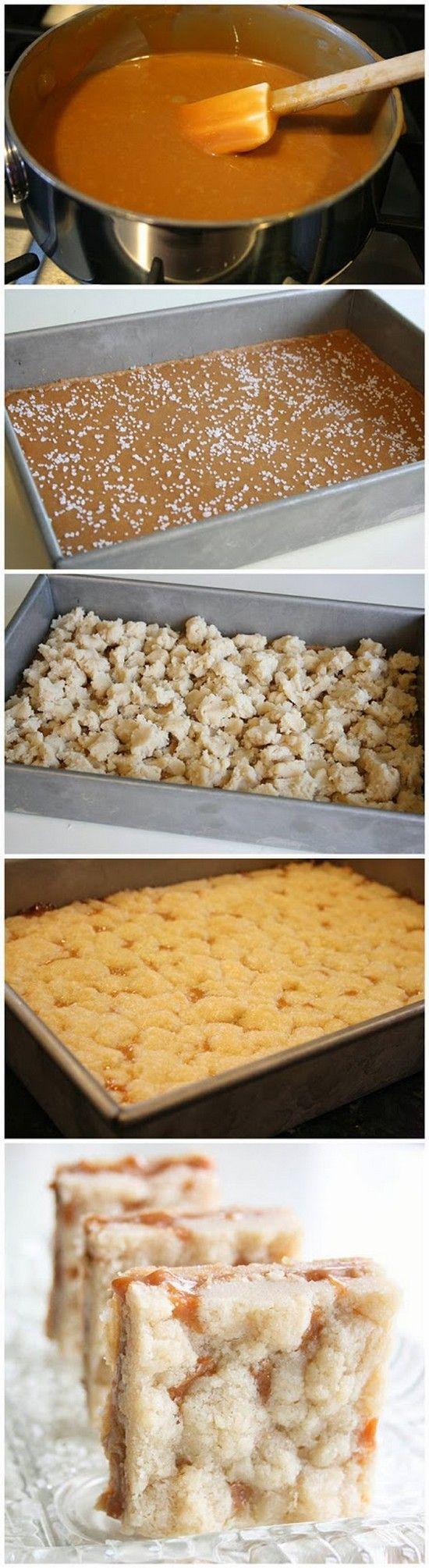 Salted Caramel Butter Bars Recipe