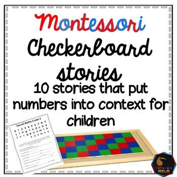 These 10 number stories are great for adding context to big numbers in your montessori elementary math program. All numbers used in the story are Montessori color coded e.g. numbers in the units are written in green. This activity works alongside introducing reading numbers on the checkerboard to your