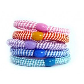 8 colourful and fun hair elastics in one pack! Juliette hårelastik