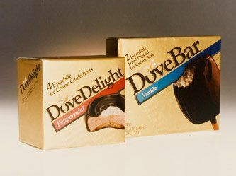 1986 Mars enters the frozen snack business with the acquisition of DOVE chocolate.