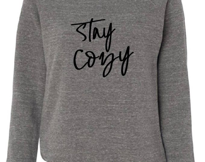 Pre Order Stay Cozy loose neck sweatshirt