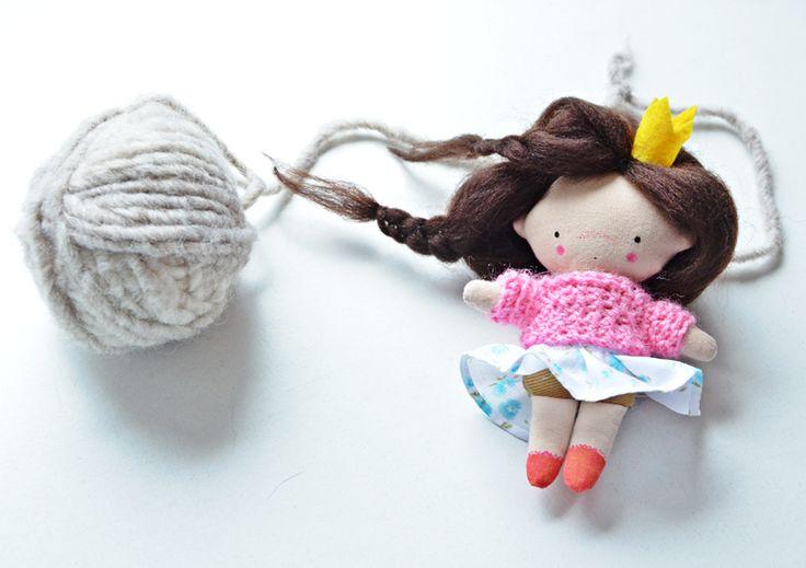 Małgorzata Kołaczyńska-Strzelecka, Zabawkarstwo, polandhandmade.pl #polandhandmade, #doll, #princess, #pocketdoll