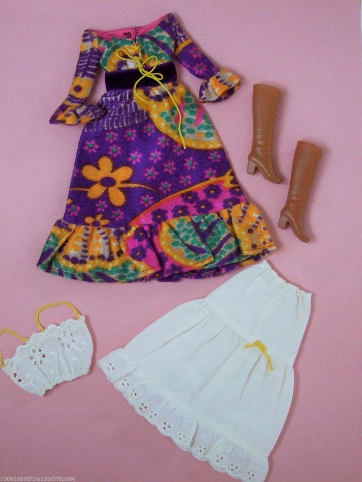 Vhtf Vintage Barbie Peasant Dressy 1971 3438 Complete
